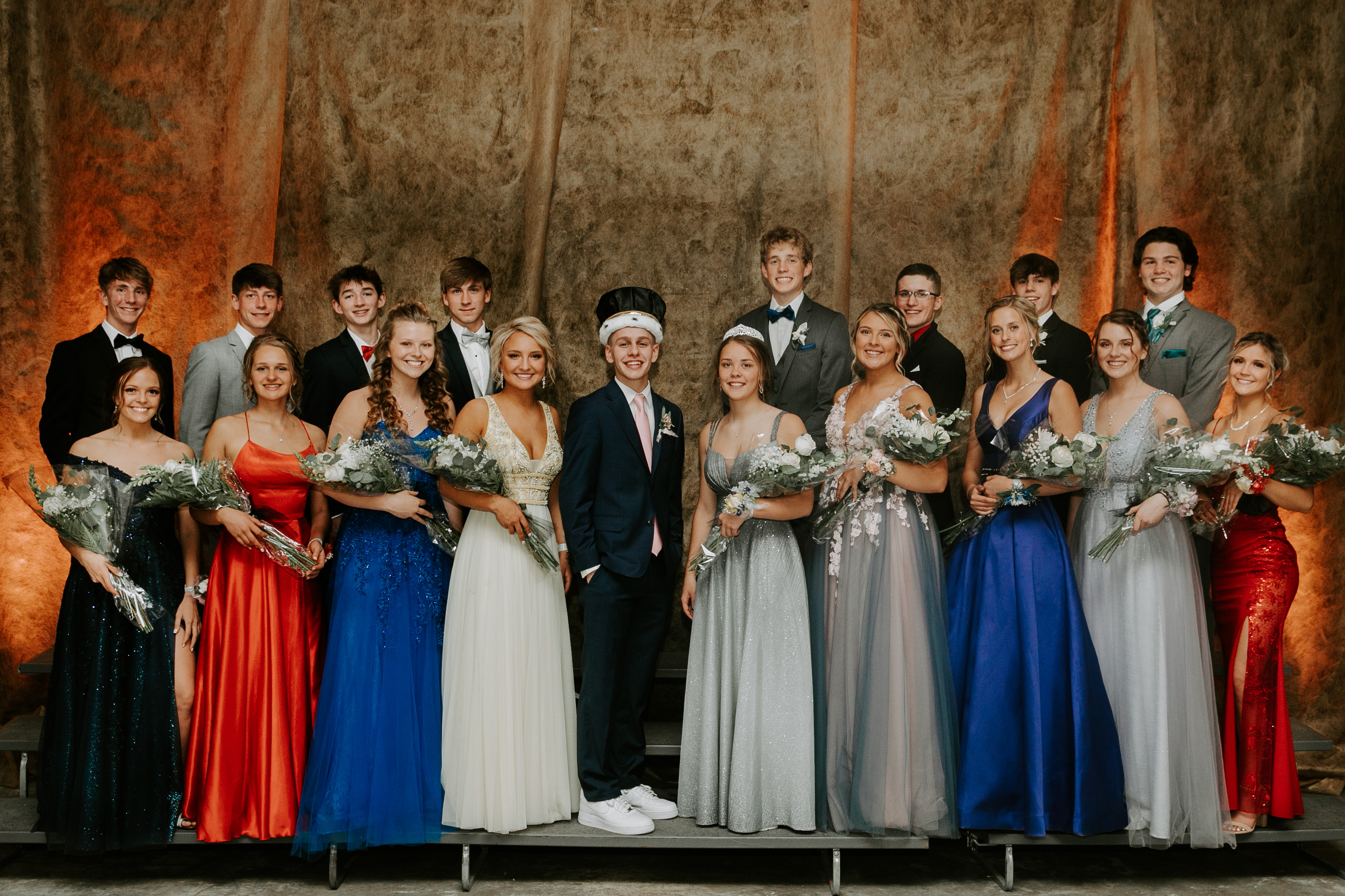 The junior court included, back row from left, Anthony Buss, Caden Schneider, Brady Mikonowicz, Mitchell Henke, Jack Campbell, Wyatt Tourdot, Griffen Elder and Ephraim Albers; front row from left, Summer Thompson, Ava Stieve, Macie Wieman, Alayna Haugh, Anna Pillow, Halle Hahn, Mahra Wieman and Matti Severson. The king was Joseph Lindholm and the queen was McKenzie Bestor. (Submitted photos)