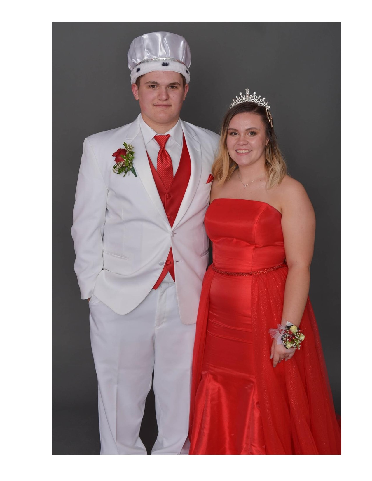 The senior prom king and queen were Hayden VanCoulter and Abbigayle Spencer. (Submitted photos)
