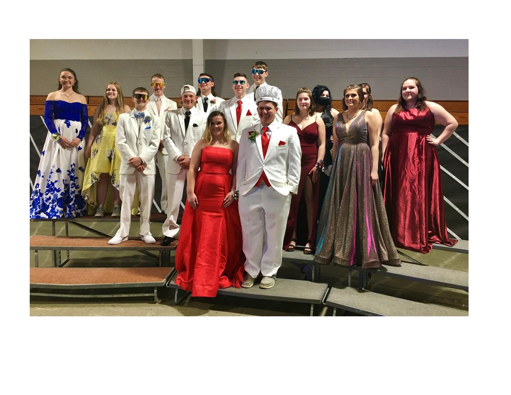 Weston's senior prom court 2021