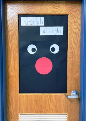 Classroom doors at the Weston School District are decorated. (Submitted photos)